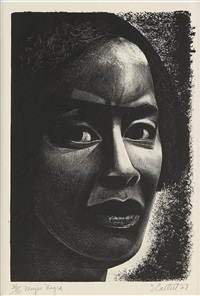 mujer negra by elizabeth catlett