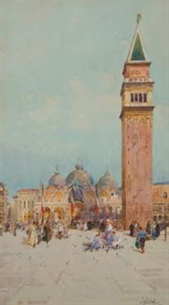 the campanile, venice by george charles haite