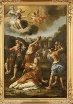 le martyre de saint etienne by annibale carracci