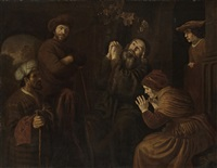 jacob being shown joseph's robe by jan victors
