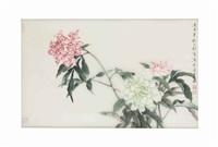 peonies by liu yong