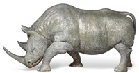 model of a rhino by christian maas
