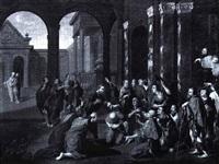 christus segnet die drei asiaten by philippe tidemann