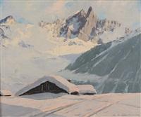 l'aiguille du dru, vallée de chamonix by charles henry contencin