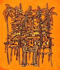 projekt ilustracji do skamieniały statek - baśnie malajskie roberta stillera by roman opalka