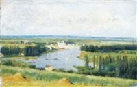 le confluent de la seine et de l'oise, conflans sainte-honorine vu de chanteloup by stanislas lépine