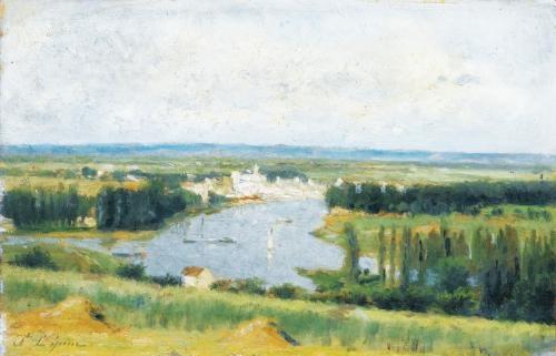 le confluent de la seine et de loise conflans sainte honorine vu de chanteloup by stanislas lépine