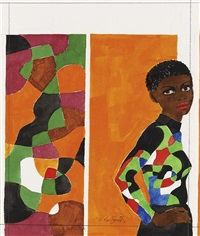 untitled (woman with printed blouse) by hughie lee-smith