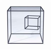 10700mm table from thin black lines by nendo