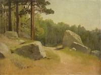 landschaftsstudie mit felsen by princ ársenij iwanowitsch merschtscherskij