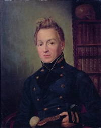 portrait d'un officier by firmin massot