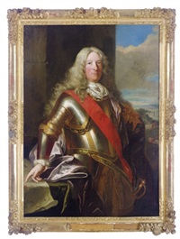 portrait of a gentleman in armour by jean ranc