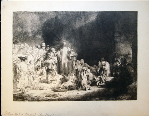 christ healing of the sick by rembrandt van rijn