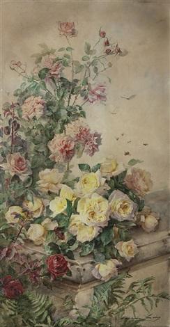 Plantas En Flor E Insectos By Madeleine Jeanne Lemaire On Artnet
