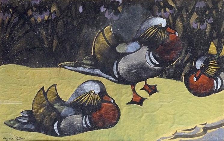 les canards mandarins by georges manzana pissarro