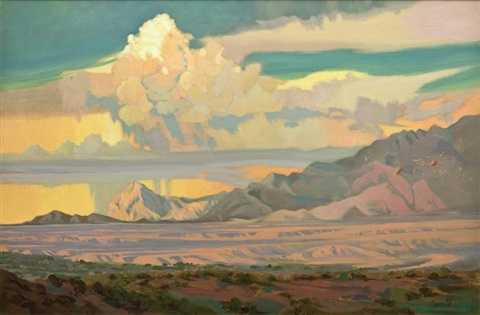 summer clouds over the santa ritas by barbara hill