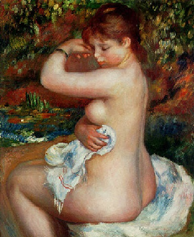 baigneuse by pierre auguste renoir