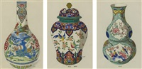chinese style vases (set of 9) by anonymous (20)