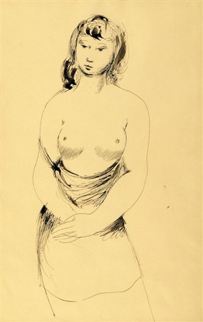 untitled nude by george russell drysdale