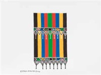 an ndebele blanket by esther mahlangu