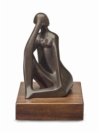 seated figure by elizabeth catlett