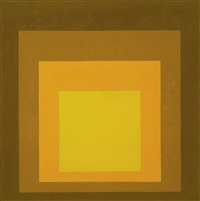 study for homage to the square: at home by josef albers