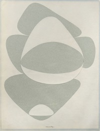 composition aux galets, période belle-isle by victor vasarely