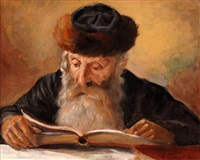 rabbi reading by lazar krestin