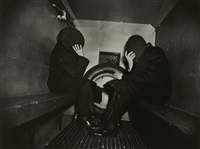 two offenders in the paddy wagon by weegee