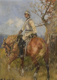 rider of the royal guards by theodor rocholl