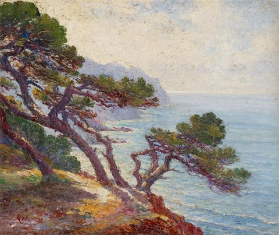 rochers sur la cote méditerranéenne by armand guillaumin