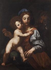 madonna con il bambino e san giuseppe by perino del vaga