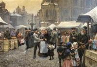marché de la saint nicolas à prague by jaroslar kosar
