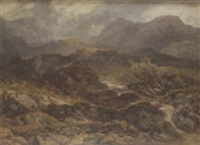 landscape in north wales by henry harris lines
