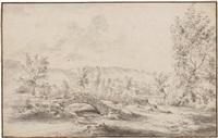 landschaft mit steinbrücke by willem von bemmel