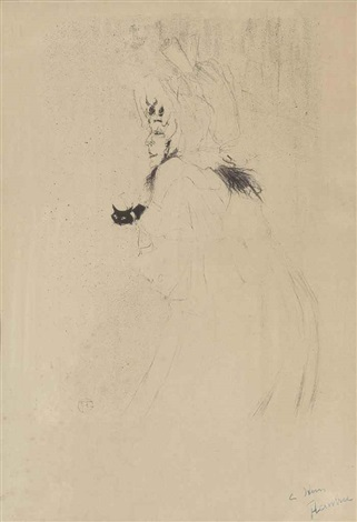 miss may belfort saluant by henri de toulouse lautrec