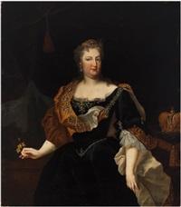 portrait d'elisabeth christine de brunswick-wolfenbüttel (1691-1750), épouse de l'empereur charles vi de habsbourg by johann gottfried auerbach