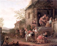 jacob stealing esau's blessing from isaac by adriaen verdoel