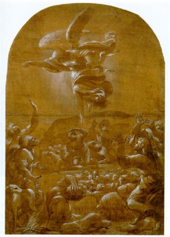 the annunciation to the shepherds by lucio massari