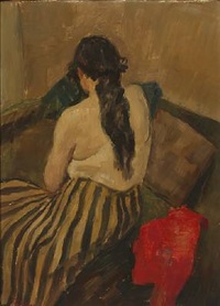 a back turned woman by carl fischer