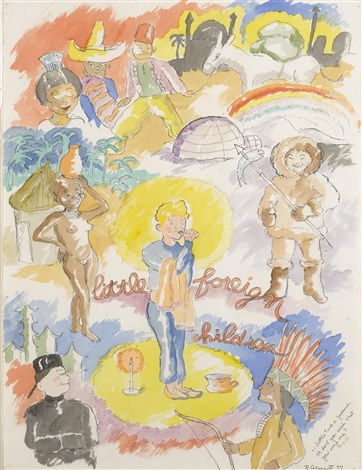 little foreign children by robert h colescott