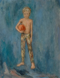 boy with a ball by wim motz
