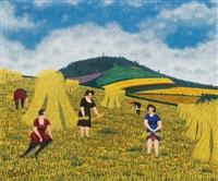 glaneuses, paysannes et villageoise by camille bombois