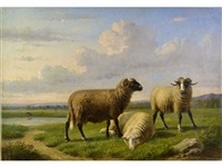 les moutons by louis pierre verwee