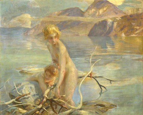 Bañistas A Orillas De Un Lago By Paul Emile Chabas On Artnet