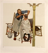 summer's start by norman rockwell