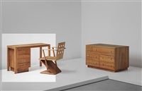 modular desk (from the redelé house, dordrecht) by gerrit thomas rietveld