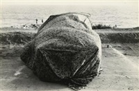 malibu beach (covered car) by robert frank