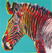 grevy's zebra (from endangered species) by andy warhol