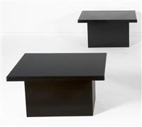 paire de tables d'appoint by christian krekels